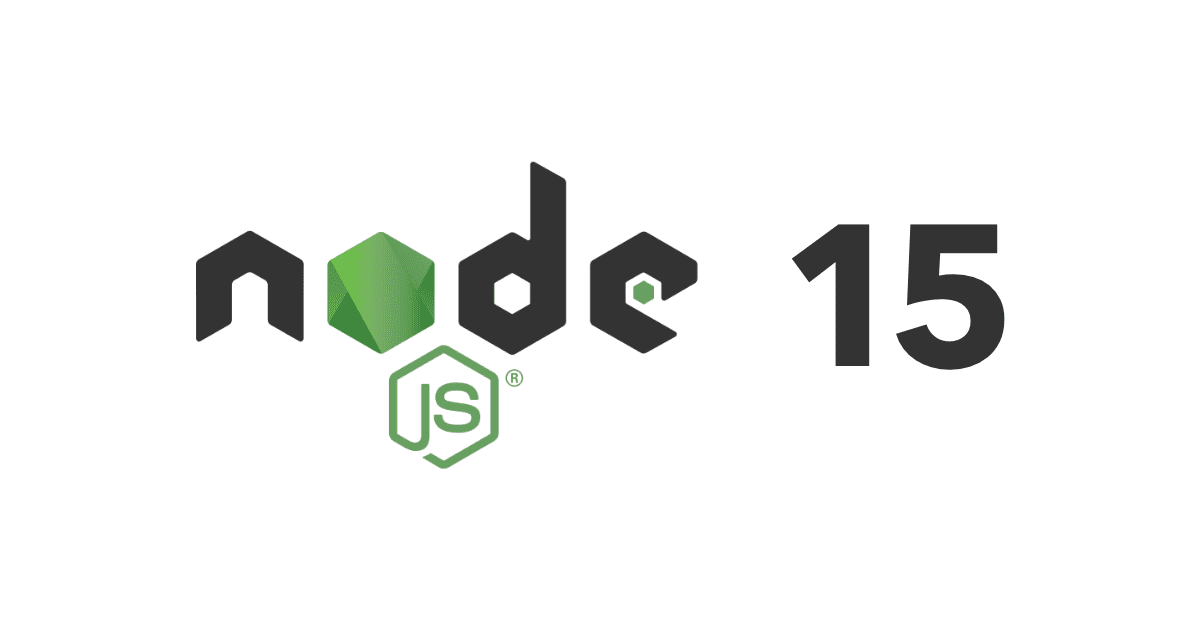 Node.js logo and number 15